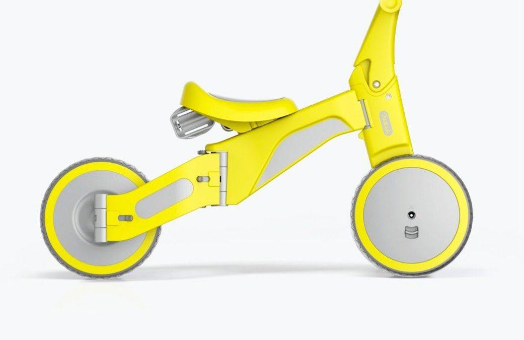 Lo nuevo de Xiaomi es un triciclo que se convierte en bicicleta: barato, sencillo y en tres colores